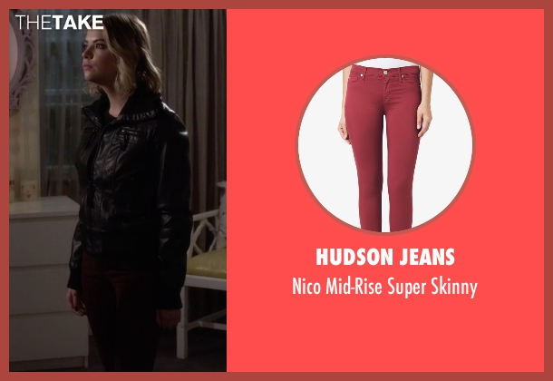 Hudson Jeans red skinny from Pretty Little Liars seen with Hanna Marin (Ashley Benson)