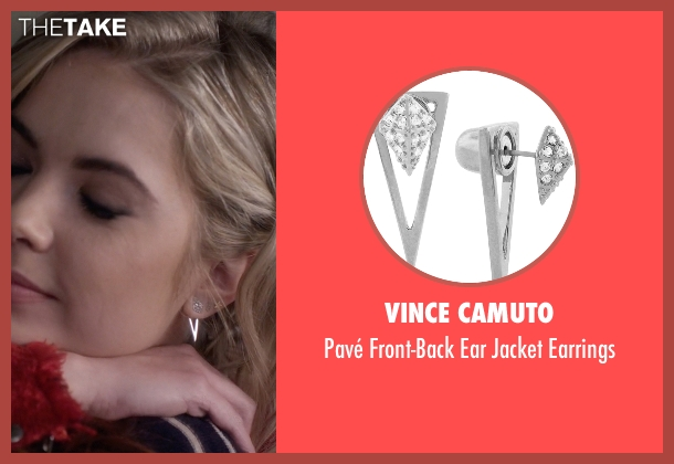 Vince Camuto silver earrings from Pretty Little Liars seen with Hanna Marin (Ashley Benson)