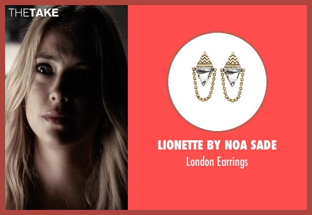 Lionette by Noa Sade silver earrings from Pretty Little Liars seen with Hanna Marin (Ashley Benson)