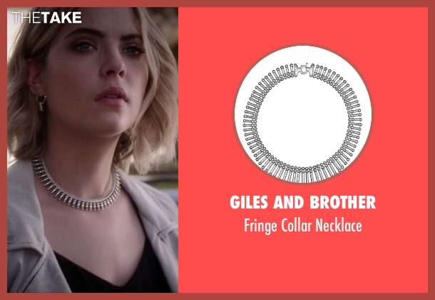 Giles and Brother silver necklace from Pretty Little Liars seen with Hanna Marin (Ashley Benson)