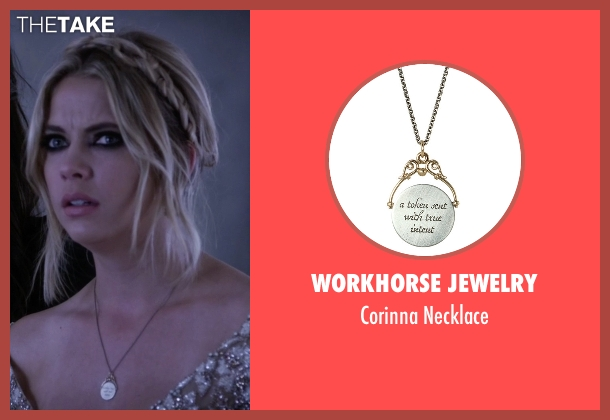 Workhorse Jewelry silver necklace from Pretty Little Liars seen with Hanna Marin (Ashley Benson)