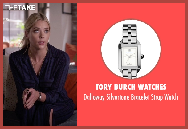 Tory Burch Watches silver watch from Pretty Little Liars seen with Hanna Marin (Ashley Benson)