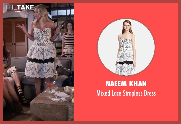 Naeem Khan  white dress from Pretty Little Liars seen with Hanna Marin (Ashley Benson)