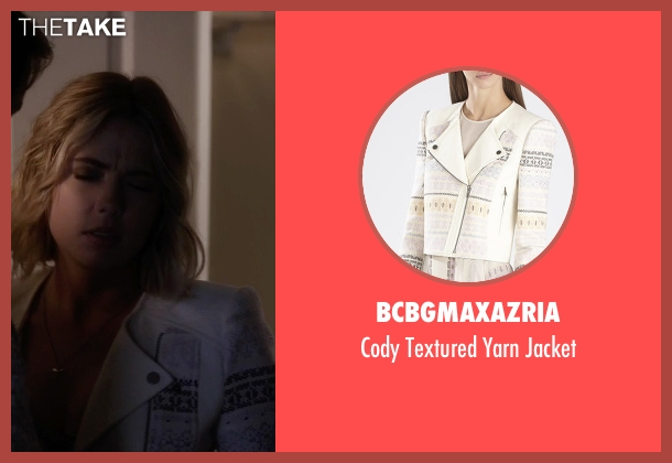 BCBGMAXAZRIA white jacket from Pretty Little Liars seen with Hanna Marin (Ashley Benson)