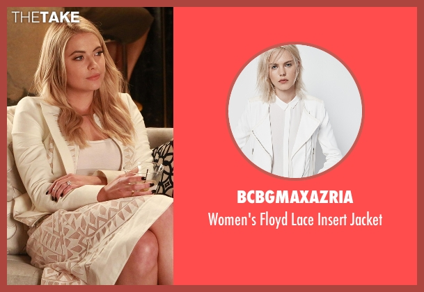 BCBGMAXAZRIA  white jacket from Pretty Little Liars seen with Hanna Marin (Ashley Benson)