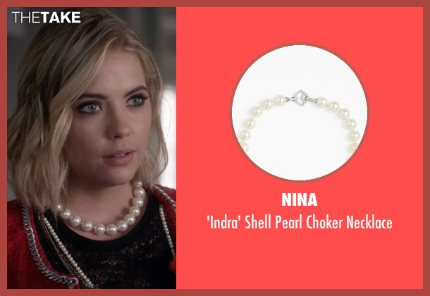 Nina white necklace from Pretty Little Liars seen with Hanna Marin (Ashley Benson)