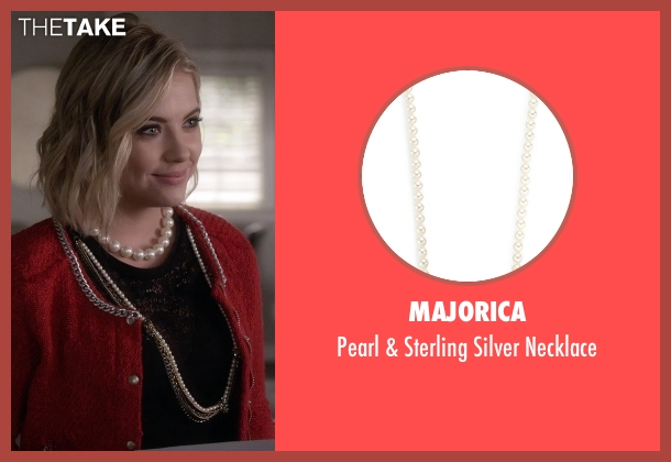 Majorica white necklace from Pretty Little Liars seen with Hanna Marin (Ashley Benson)