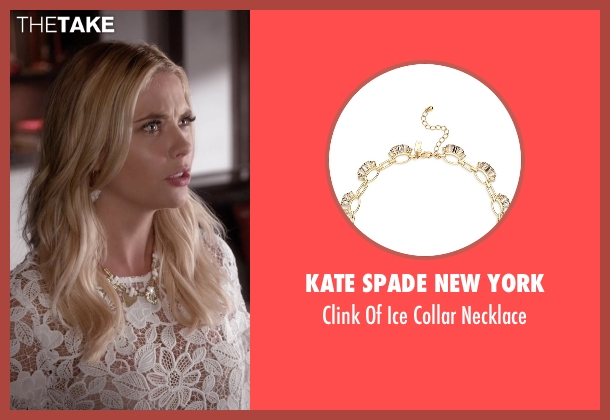Kate Spade New York  white necklace from Pretty Little Liars seen with Hanna Marin (Ashley Benson)