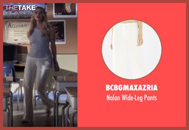 BCBGMAXAZRIA white pants from Pretty Little Liars seen with Hanna Marin (Ashley Benson)