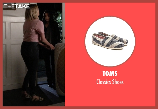 Toms white shoes from Pretty Little Liars seen with Hanna Marin (Ashley Benson)