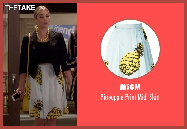 MSGM white skirt from Pretty Little Liars seen with Hanna Marin (Ashley Benson)