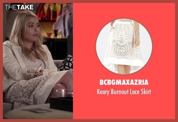 BCBGMAXAZRIA white skirt from Pretty Little Liars seen with Hanna Marin (Ashley Benson)