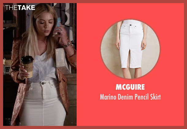 McGuire white skirt from Pretty Little Liars seen with Hanna Marin (Ashley Benson)