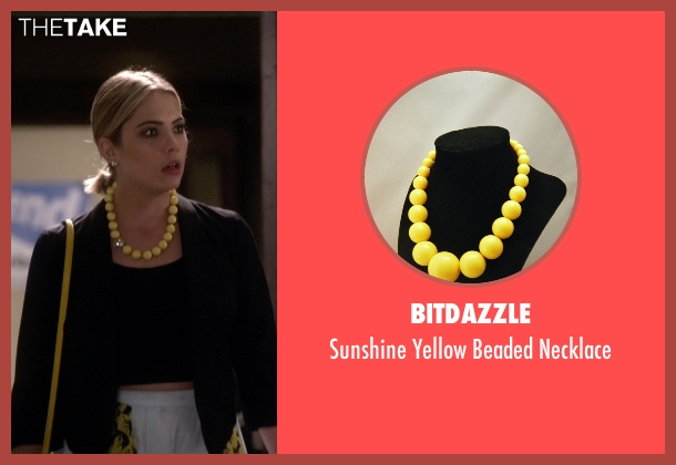 BitDazzle yellow necklace from Pretty Little Liars seen with Hanna Marin (Ashley Benson)