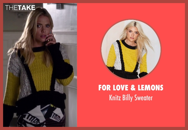 For Love & Lemons yellow sweater from Pretty Little Liars seen with Hanna Marin (Ashley Benson)