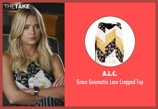 A.L.C. yellow top from Pretty Little Liars seen with Hanna Marin (Ashley Benson)