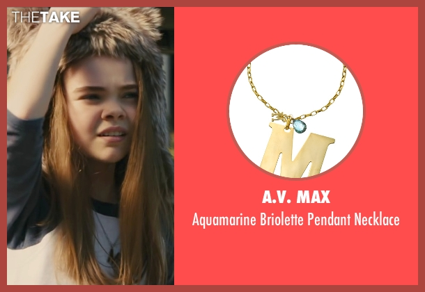 A.V. Max gold necklace from Paper Towns seen with Hannah Alligood (Young Margo)