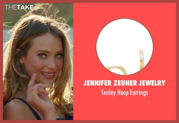 Jennifer Zeuner Jewelry gold earrings from Vacation seen with Hannah Davis (Unknown Character)