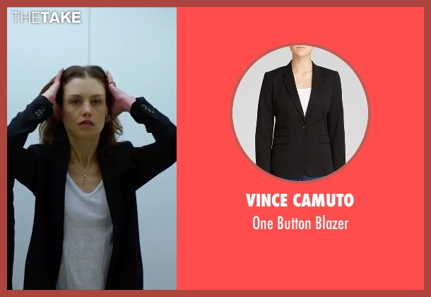 Vince Camuto black blazer from Hitman: Agent 47 seen with Hannah Ware (Katia van Dees)