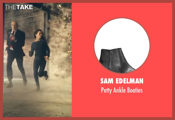 Sam Edelman black booties from Hitman: Agent 47 seen with Hannah Ware (Katia van Dees)