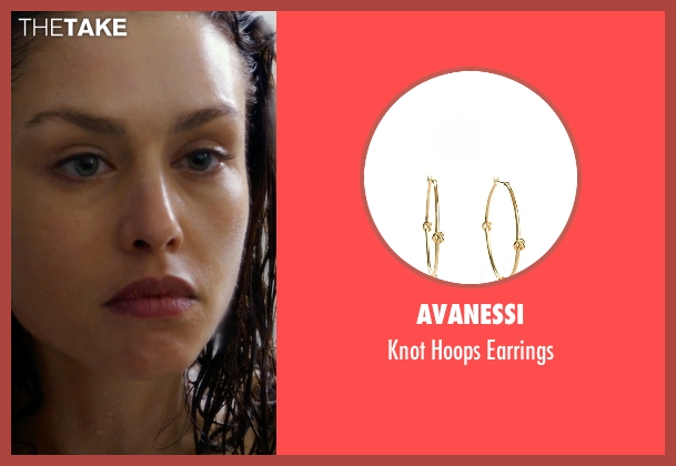 Avanessi gold earrings from Hitman: Agent 47 seen with Hannah Ware (Katia van Dees)