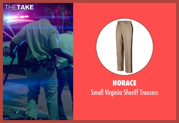 Horace beige trousers from Neighbors seen with Hannibal Buress (Officer Watkins)