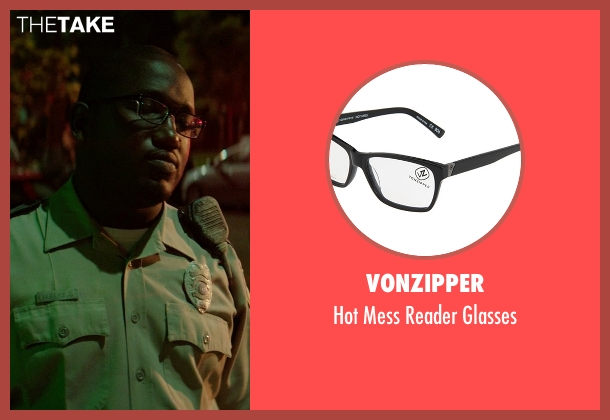 VonZipper black glasses from Neighbors seen with Hannibal Buress (Officer Watkins)
