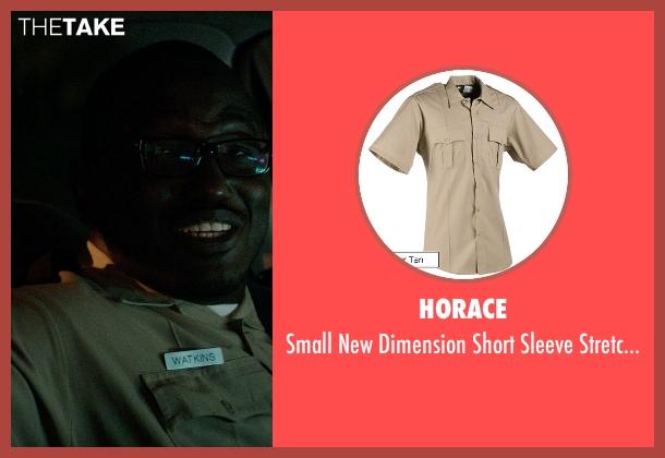 Horace brown shirt from Neighbors seen with Hannibal Buress (Officer Watkins)