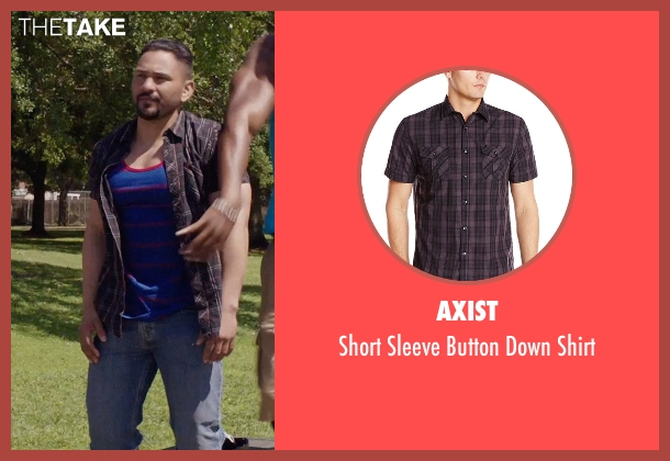 Axist black shirt from Get Hard seen with Hans Marrero (Big Guy #3)