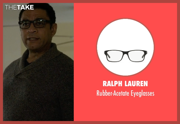 Ralph Lauren black eyeglasses from The Blacklist seen with Harold Cooper (Harry Lennix)