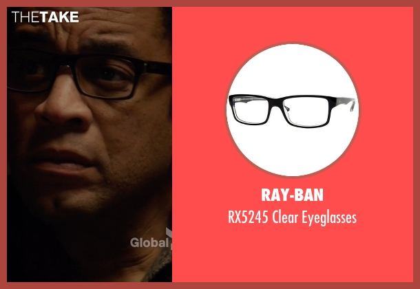 Ray-Ban black eyeglasses from The Blacklist seen with Harold Cooper (Harry Lennix)