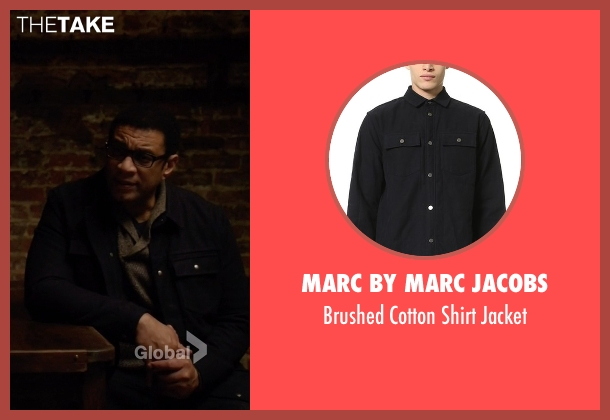 Marc by Marc Jacobs black jacket from The Blacklist seen with Harold Cooper (Harry Lennix)