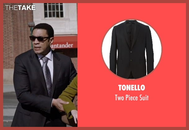 Tonello black suit from The Blacklist seen with Harold Cooper (Harry Lennix)
