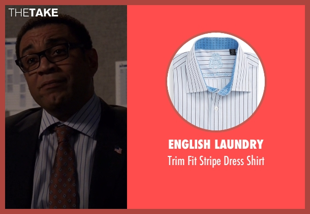 English Laundry blue shirt from The Blacklist seen with Harold Cooper (Harry Lennix)