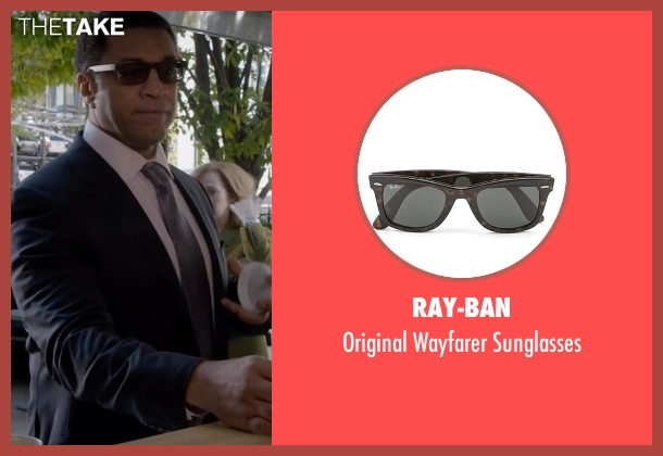 Ray-Ban brown sunglasses from The Blacklist seen with Harold Cooper (Harry Lennix)