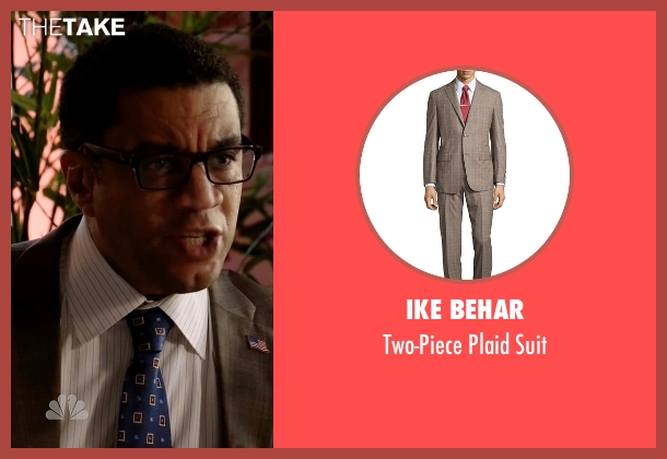 Ike Behar gray suit from The Blacklist seen with Harold Cooper (Harry Lennix)