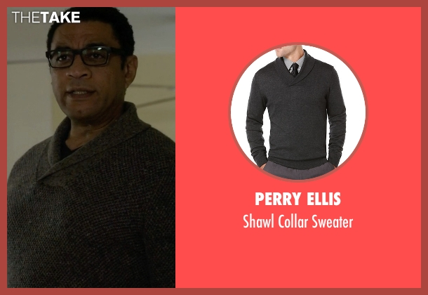 Perry Ellis gray sweater from The Blacklist seen with Harold Cooper (Harry Lennix)