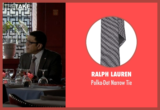Ralph Lauren gray tie from The Blacklist seen with Harold Cooper (Harry Lennix)