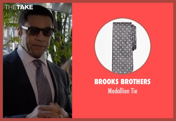 Brooks Brothers gray tie from The Blacklist seen with Harold Cooper (Harry Lennix)