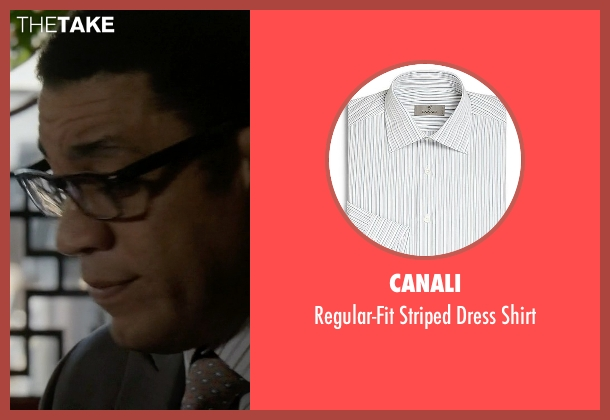 Canali white shirt from The Blacklist seen with Harold Cooper (Harry Lennix)