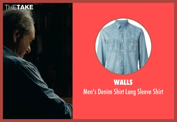 Walls blue shirt from The Place Beyond The Pines seen with Harris Yulin (Al Cross)