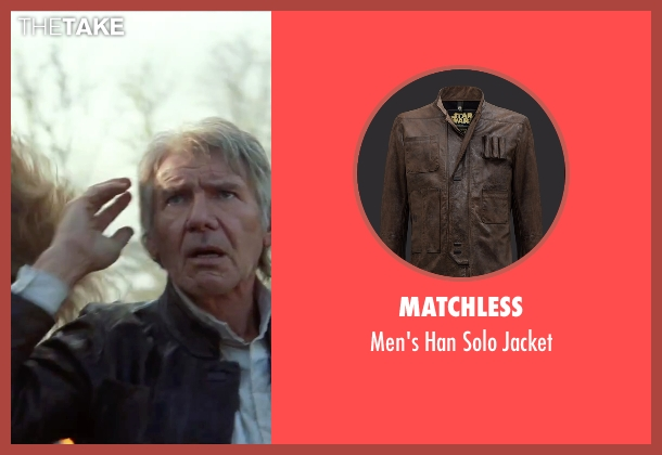 Matchless brown jacket from Star Wars: The Force Awakens seen with Harrison Ford (Han Solo)