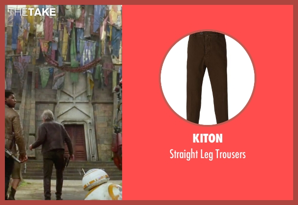 Kiton brown trousers from Star Wars: The Force Awakens seen with Harrison Ford (Han Solo)