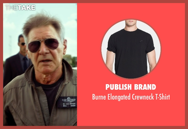 Publish Brand black t-shirt from The Expendables 3 seen with Harrison Ford (Drummer)