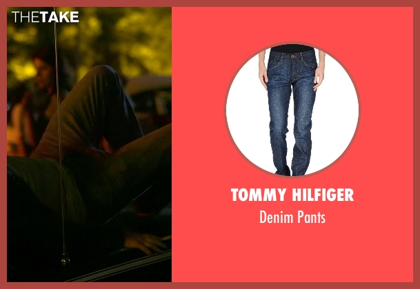 Tommy Hilfiger blue pants from Need for Speed seen with Harrison Gilbertson (Little Pete)