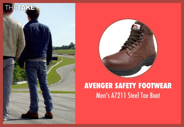 Avenger Safety Footwear brown boot from Need for Speed seen with Harrison Gilbertson (Little Pete)