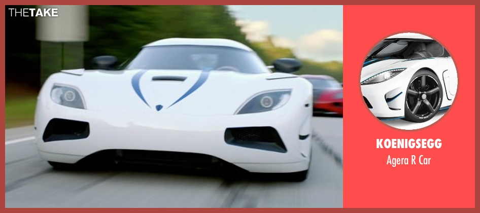 Koenigsegg car from Need for Speed seen with Harrison Gilbertson (Little Pete)