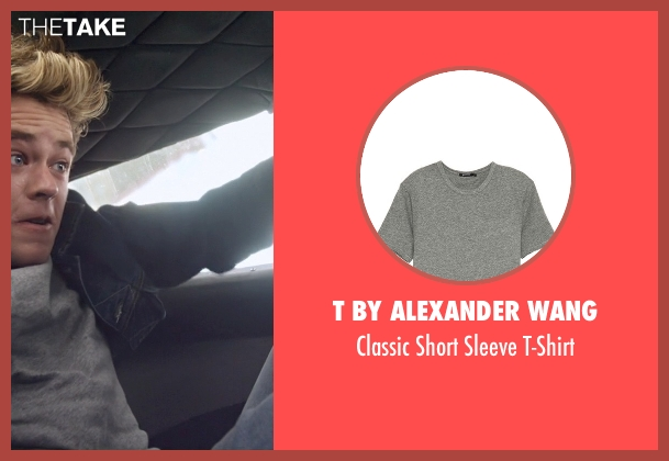 T by Alexander Wang gray t-shirt from Need for Speed seen with Harrison Gilbertson (Little Pete)