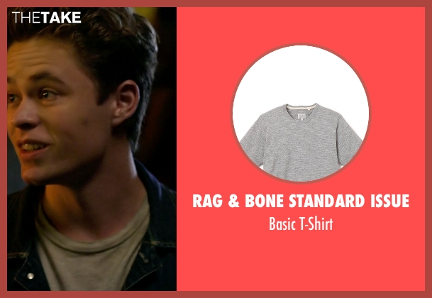 Rag & Bone Standard Issue gray t-shirt from Need for Speed seen with Harrison Gilbertson (Little Pete)