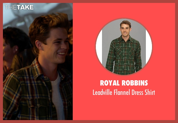 Royal Robbins green shirt from Need for Speed seen with Harrison Gilbertson (Little Pete)